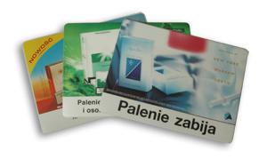 Podkładki reklamowe na ladę i na stół: folia PP/PCV